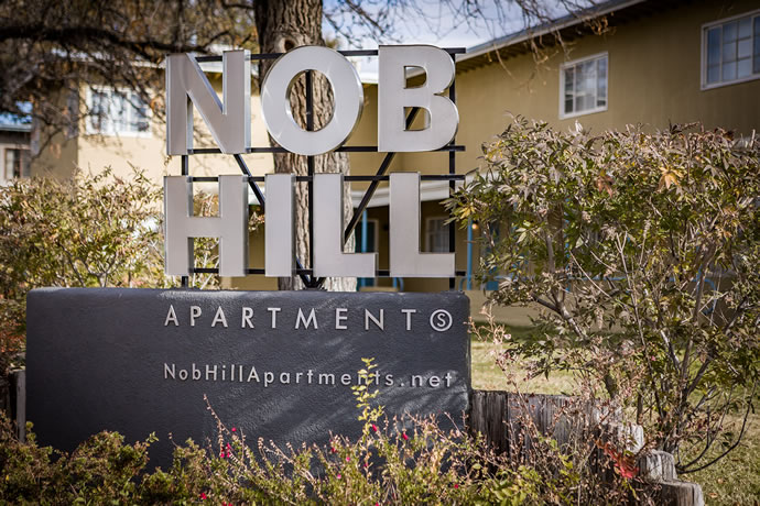 New Nob Hill Apartments Sign