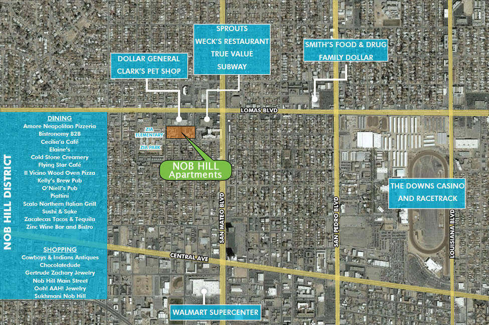 True Market Value >> Nob Hill Apartments Albuquerque - Maps