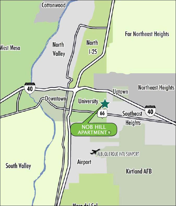 Apartments By Map: Nob Hill Apartments Albuquerque